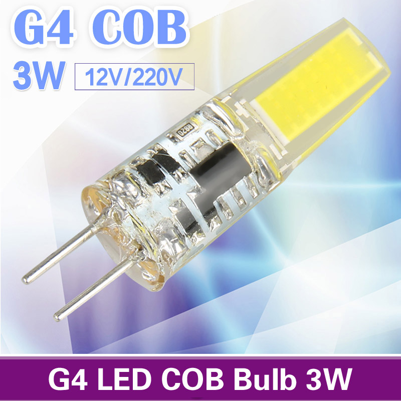 [MingBen] G4 LED COB Light Bulb 2W 3W 12V 220V Lampada Replace Halogen Fit For Crystal Chandelier Lights Warm White Cold White