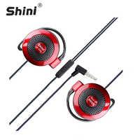 Earphone shini S520General Purpose Ear Hook Headphone Headset with Microphone for iPhone Samsung Xiaomi All Mobile Phone