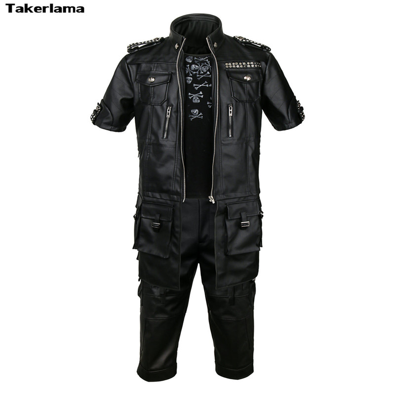 Final Fantasy FF15 15 Noctis Lucis Caelum Prince Noct Cosplay Costume Shirt Jacket Pants Men Halooween Carnival New Year Costume
