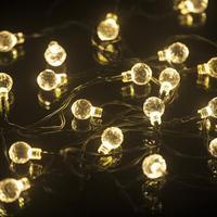 2017 NEUE 6,5 Mt 30LED Solar Kristall ball lichterkette Weihnachten Hochzeit Dekoration YE S91
