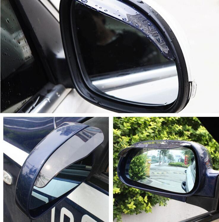 Car Styling Rearview mirror rain eyebrow For Ford focus VW Volkswagen JETTA MK6 GOLF 5 6 7 skoda fabia Chevrolet Cruze