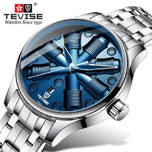 TEVISE Sport Fashion Men Automatic Mechanical Watch Mens Unique Dial Wristwatch Relogio Masculino carnival watch horloges mannen