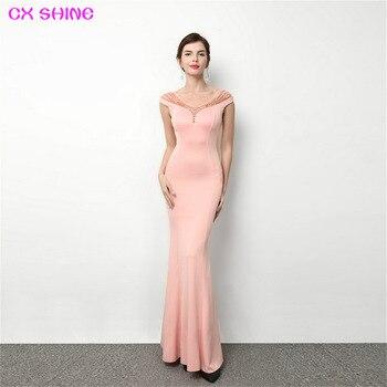 438e327c843f Las mujeres sólido verano cuello V manga larga vestido de noche vestido de  fiesta