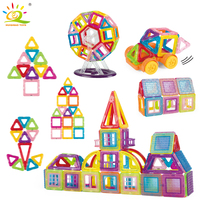 128pc Mini Magnetic Ferris wheel Designer Building Blocks kit DIY 3D Plastic constructor magnet Bricks Educational Toys For kids