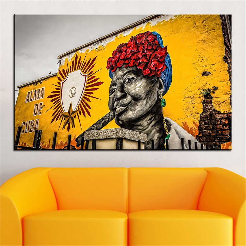 Large size Printing Oil Painting alma de cuba Wall painting Home ...