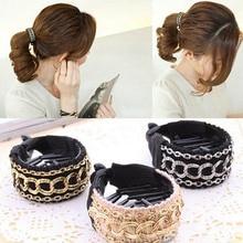 Women Girls  Fashionable Luxury Cute Chain Hair Clip Ponytail Buckle Barrette Accessory
