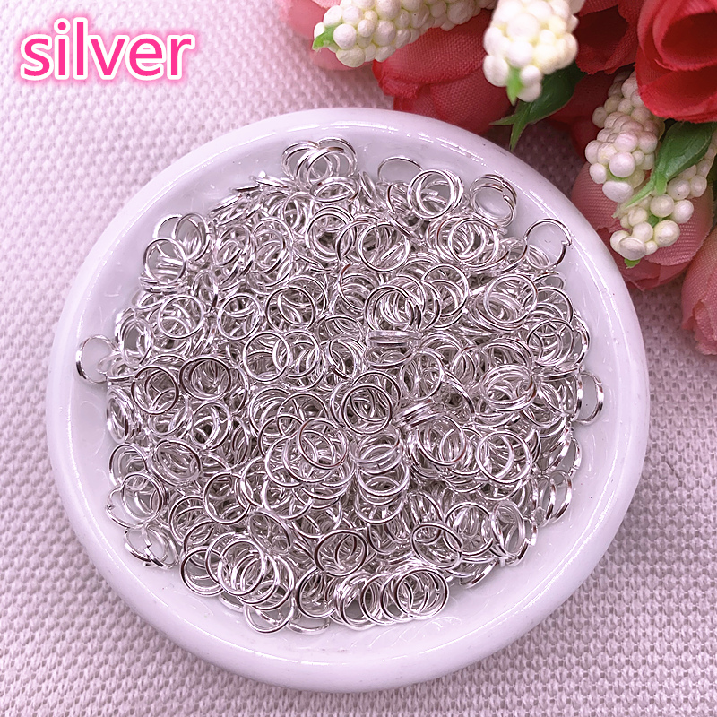 4/6/8mm Silver Jump Ring Single Loop Open Jump Rings Rings For Jewelry Necklace Bracelet Chain Connector Findings Connector