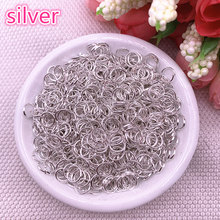 4/6/8mm silver Jump Ring Single Loop Open Jump Rings Rings for Jewelry Necklace Bracelet Chain Connector Findings Connector(China)