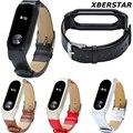 Genuine pulseira de couro bandas cinta para xiaomi mi 2 inteligente pulseira pulseira monitor de freqüência cardíaca