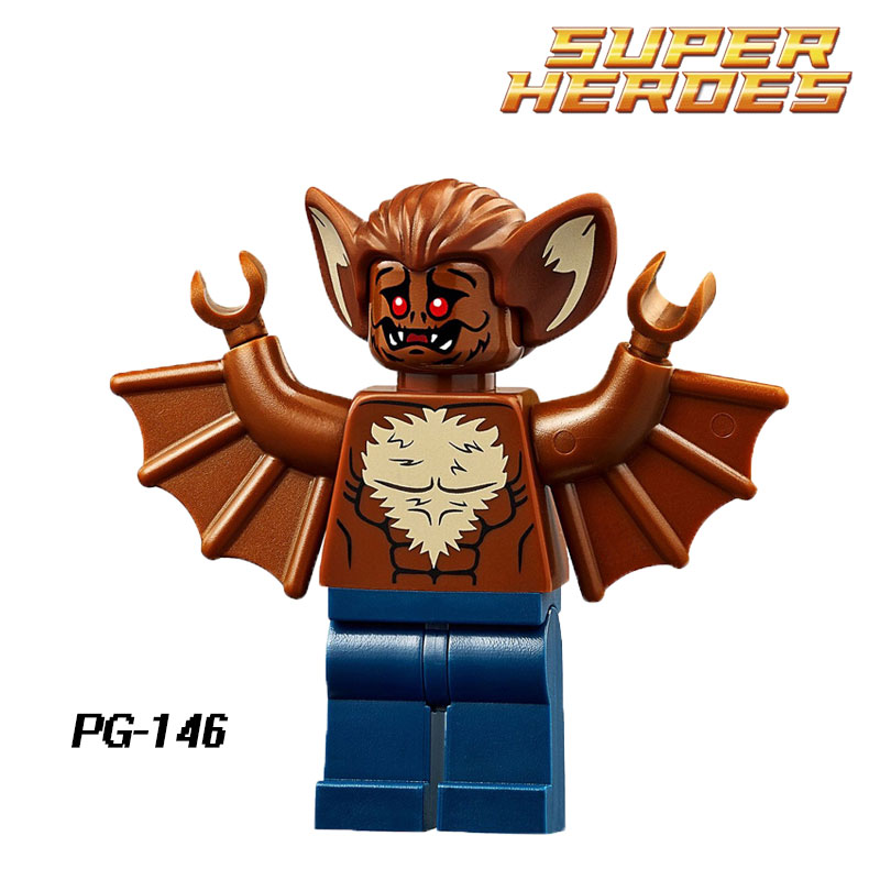 Building Blocks Man-Bat Scarecrow Riddler Batman Joker Bruce Wayne Star Wars Super Heroes Bricks Kids DIY Toys Hobbies PG146 single sale pirate suit batman bruce wayne classic tv batcave super heroes minifigures model building blocks kids toys gifts