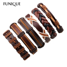 Punk Genuine Leather Bracelets Set For Men Scripture Bracelet & Bangles Wrap Bracelets for Women Vintage Punk Casual Men Jewelry