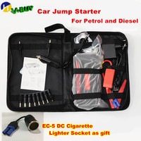 Russion Stock Multi Function Petrol&Diesel 12V Car Power Bank Mini Car Jump Starter Mobile Power Charger+4USB port for Phone/Pad