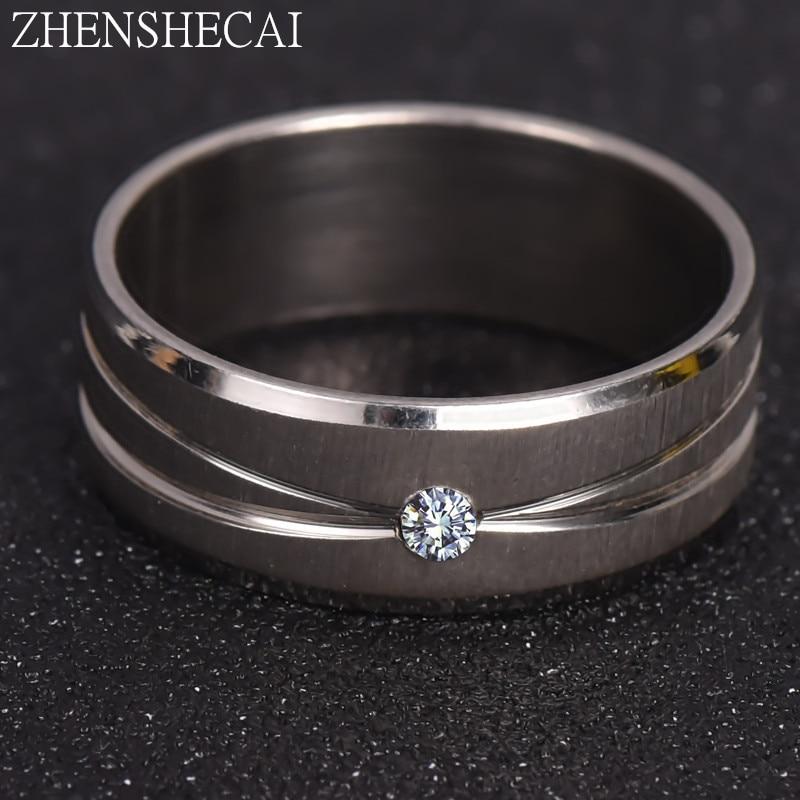 316l Edelstahl Ringe Glatte Einfache Hochzeit Paare Ringe Für Frauen Mann Geschenk Hohe Qualität Ring Schmuck Für Engagement A35