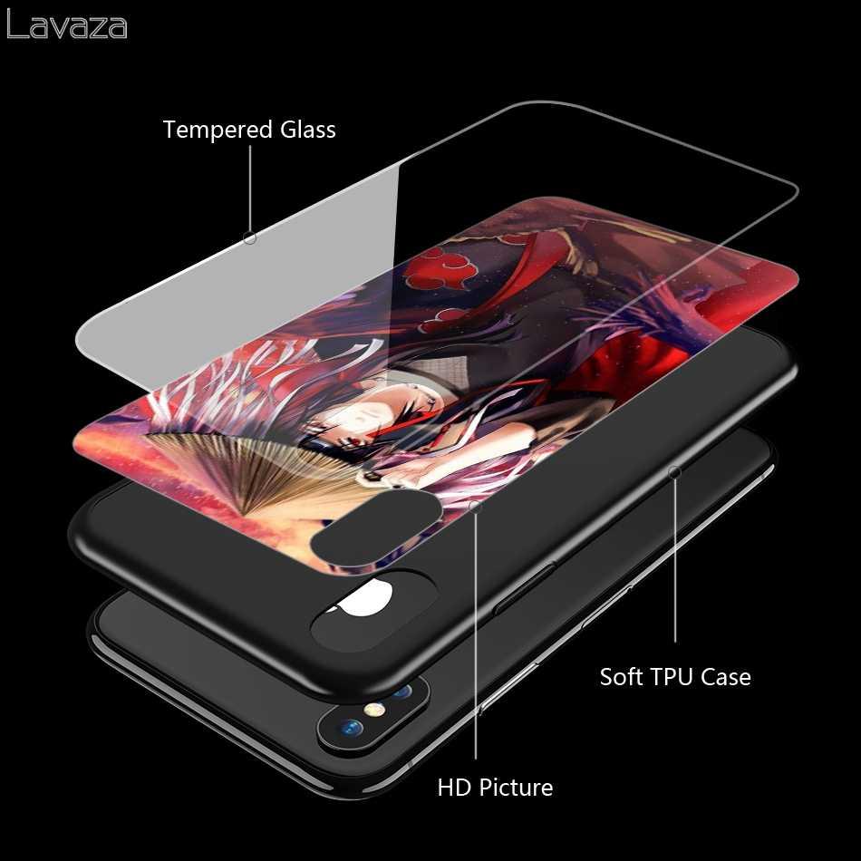 Lavaza Naruto Itachi Uchiha Temperli cam TPU iphone için kılıf XS MAX XR X 8 7 6 6 S Artı