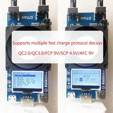 QC2.0/3.0 Triggers 35W Constant Current Dual Adjustable USB Electronic Load Test