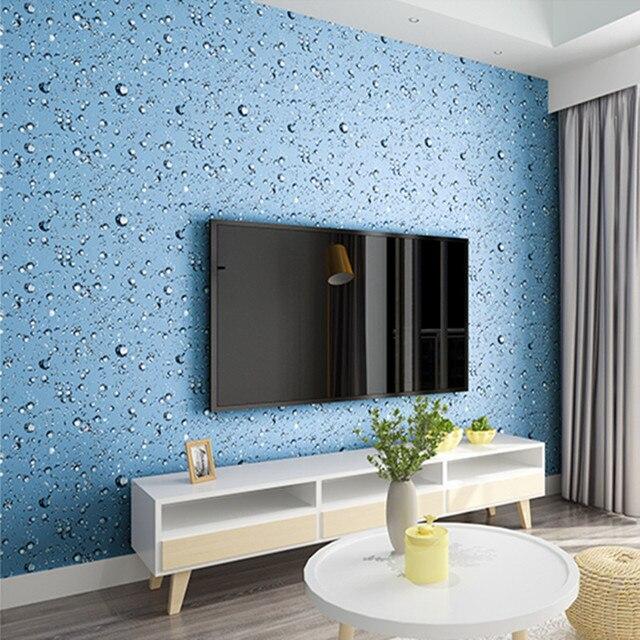 Behang Slaapkamer Blauw.Us 23 4 28 Off Wallpapers Youman Zelfklevende Cool Behang Waterdichte Pvc Blauw Waterdruppel Slaapzaal Slaapkamer Meubels Vernieuwing Stickers In