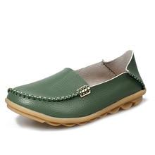 Flats Lederen Loafers Loafers