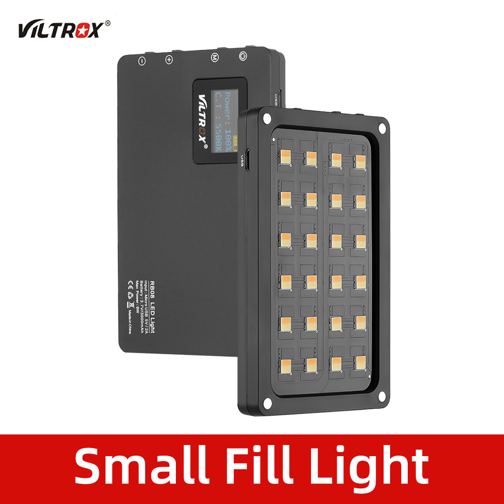 Viltrox Built-In-Battery Fill-Light Phone-Camera Video Shooting-Studio Bi-Color Portable