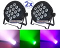 2xLot Hot Sale 2016 Led Par Light 14x15W RGBWA 5in1 Flat Slim Alu. Par Can RGBAW Led Stage Lights DMX Disco DJ Business Lighting