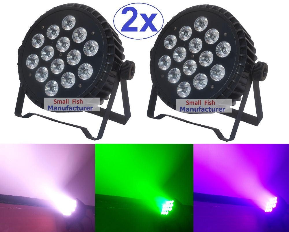 2xLot Hot Sale 2018 Led Par Light 14x15W RGBWA 5in1 Flat Slim Alu. Par Can RGBAW Led Stage Lights DMX Disco DJ Business Lighting