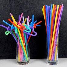 50 шт/100 шт Одноразовые соломинки гибкие для сока и питья 26 см безопасные для дома вечерние для бара 2018ing