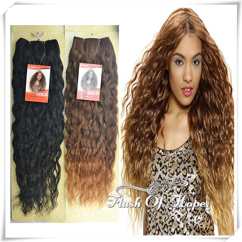 24 Inch Noble Gold Super Bohemian Ombre Natural Deep Curly Synthetic