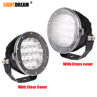80W Led Driving Lights 12V 24V Car Off road bumper Roof Work Lights With Clear Cross Cover