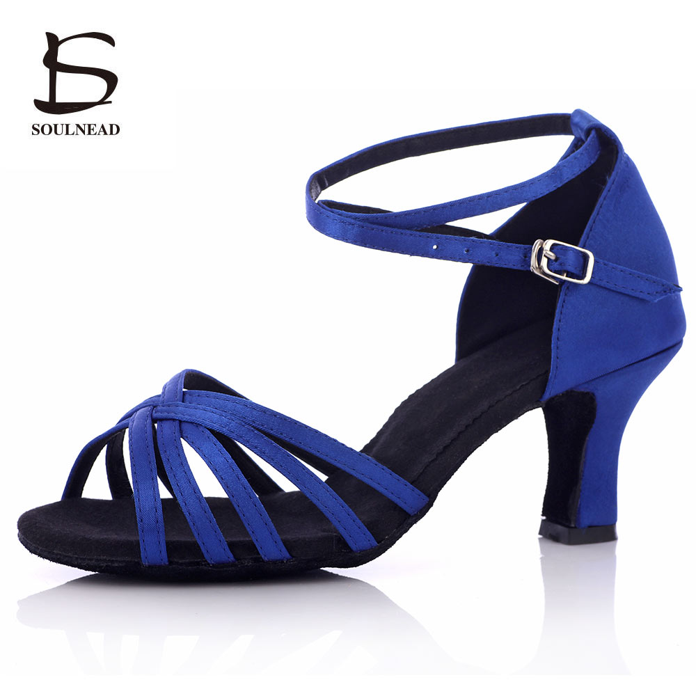 Professional Women Latin Dance Shoes Tango Salsa Sandals Dancing/Training Shoes For Girls/Ladies Ballroom Dance Shoes Heeled 7cm
