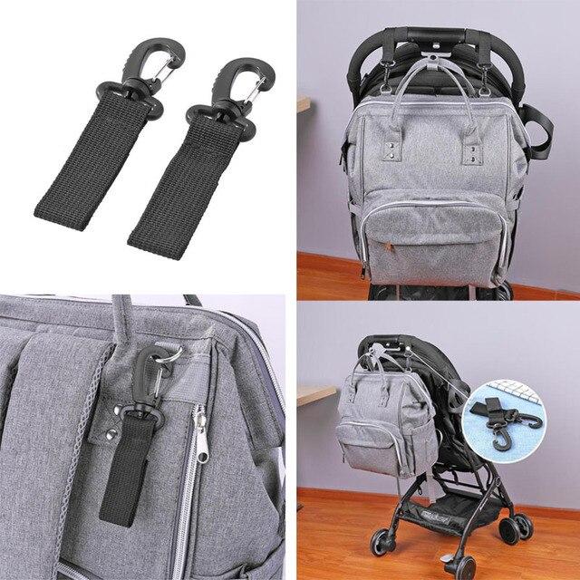 2pcs/Set Stroller Hooks Wheelchair Stroller Pram Carriage Bag Hanger Hook Baby Strollers Shopping Bag Clip Stroller Accessories