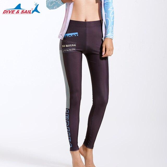 8def6cbd5 Women's Swimming Full Leggings Basic Wetsuit Pants Diving Surfing Swimming  Snorkeling Pants Swim Tights Sun UV Protection UPF50+