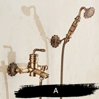 Bamboo Shower Faucet Mixer Tap Antique Bronze Brass Bath Shower Faucet Set Bathtub Faucet Torneira Bath