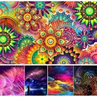2018 Psychedelic Colored Pattern Frameless 5D DIY Diamond Painting Cross Stitch Craft Kit Paint by Number Kits Full Diamond