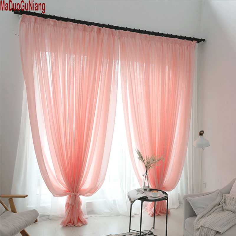 Wedding Ceiling Drapes Pink/Beige Sheer Curtains Window