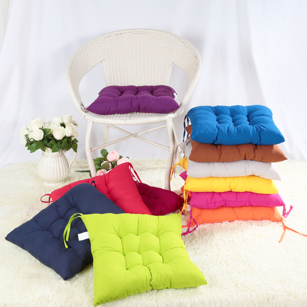 Free Shipping 40 40cm Chair Pad Cushion Pearl Cotton: New 40*40cm Square Seat Chair Pad Cushion Pearl Cotton