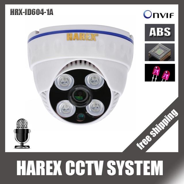 1280*720 P 1.0 мегапиксельная массив светодиоды Аудио ip купольная камера onvif Крытый ночного видения plug and play, бесплатная доставка