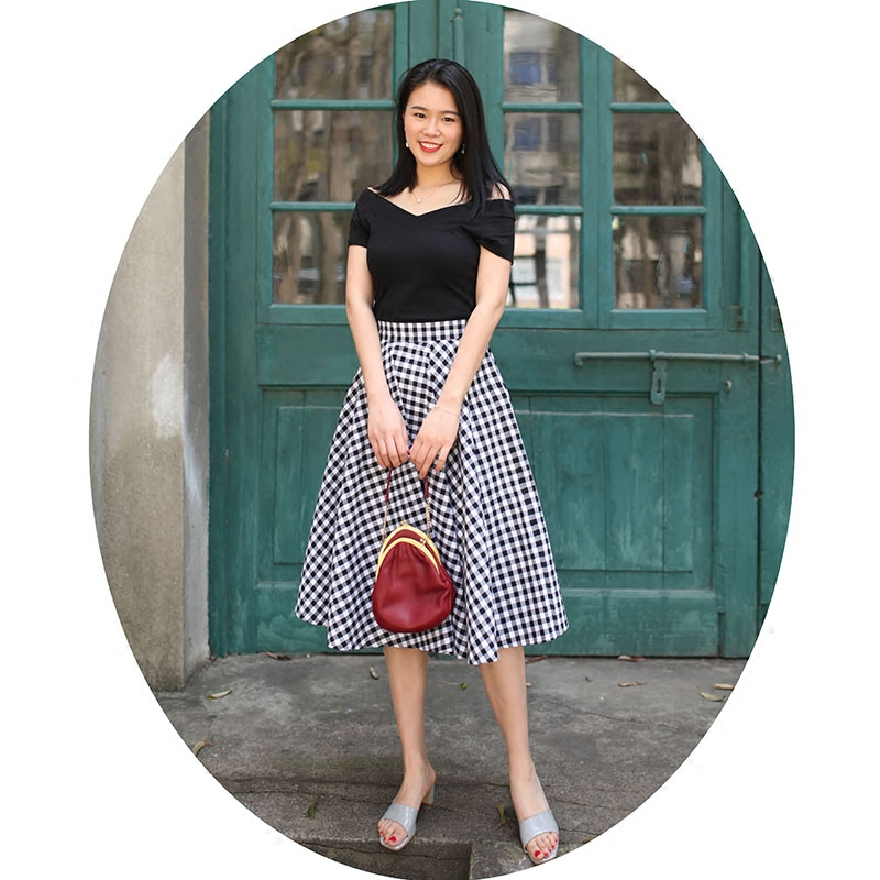 a4e30ada91a 40- vintage 50s Audrey Hepburn white black gingham full circle midi swing  skirt rockabilly pinup skirts plus size ...