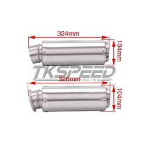 Image 3 - באיכות גבוהה אוניברסלי שונה אופנוע צינור פליטת עבור WRS פליטת צעיף CB400 CBR400 VFR400