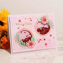 Naifumodo Inside Scalloped Circle Metal Cutting Dies Scrapbooking New 2019 Star Craft Dies for Cards Making Leaf Album Embossing