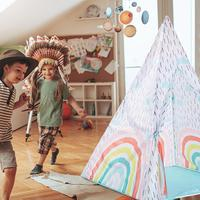 Indian Style Dream Rainbow Children's Tent Baby Play House Game Tent Marine Ball Pool Toy House Indian Style Children's Tent