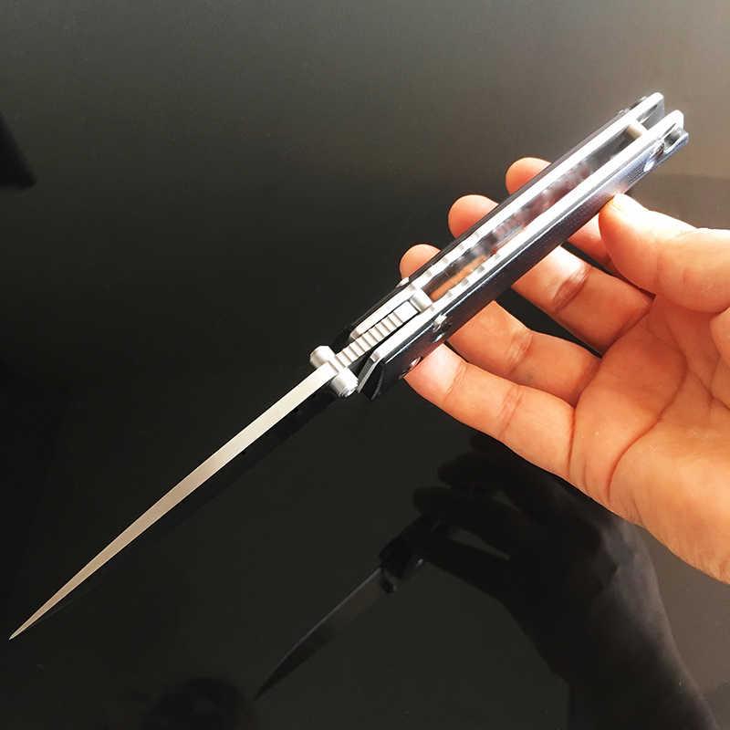 折りたたみナイフボールベアリングワッシャー高品質 D2 鋼折りたたみ刃 G10 戦術ポケットナイフサバイバル EDC ツールコレクション