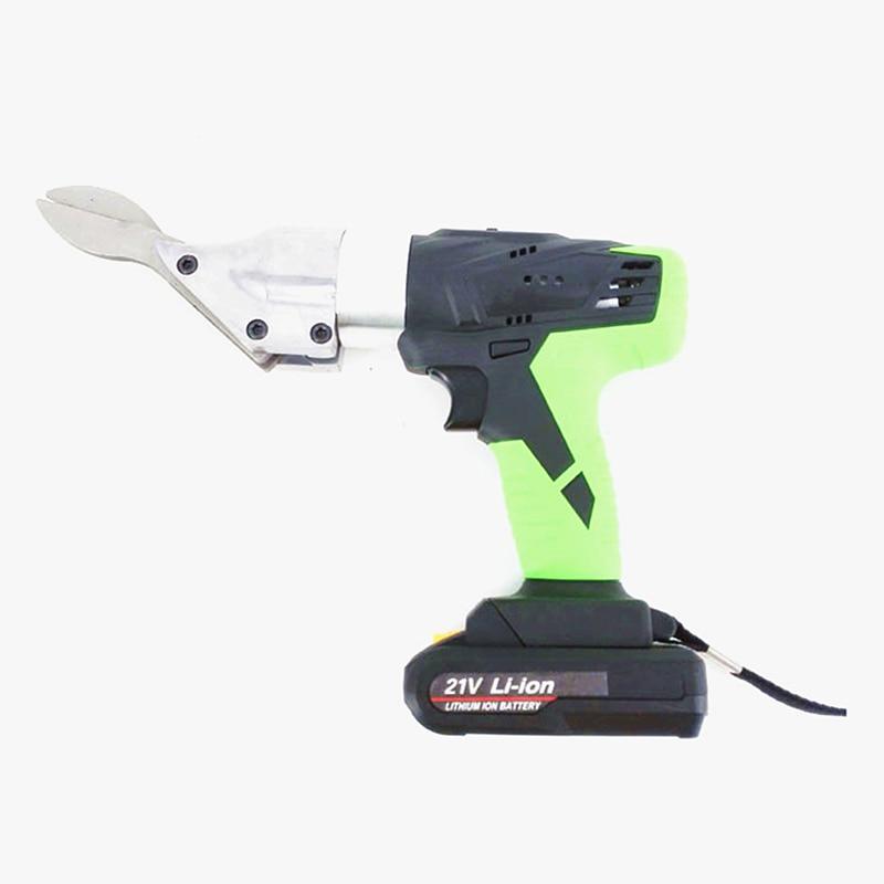 21v tesoura sem fio industrial bateria de lítio cortador ferro cor telha de aço ferramenta corte rede arame corte ferramenta - 3
