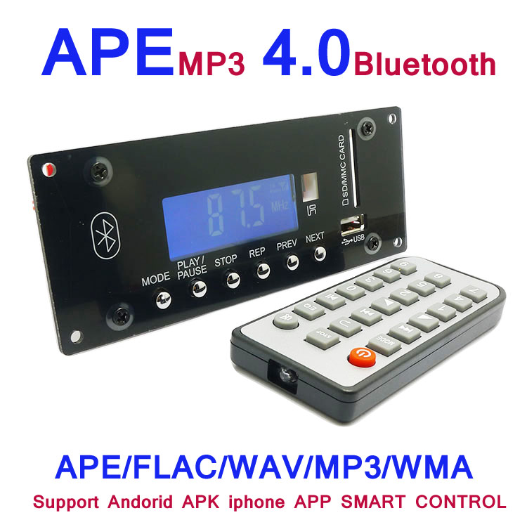 MP3 Decoding Board 4.0 Bluetooth Wireless Audio Module USB SD Radio APE FLAC WMA AUX External Signal Source Interference Board-in Integrated Circuits from Electronic Components & Supplies