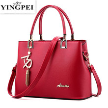 YINGPEI New Designer Women Bags Fashion Vintage PU Leather Handbags High Quatity Casual Shoulder Messenger Crossbody Totes