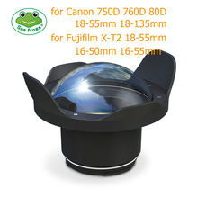 все цены на Underwater 40m Photography Wide Angle Lens Dome Port For Canon  750D 760D 80D Fujifilm X-T2 Housing Case Camera Fisheye Filter онлайн