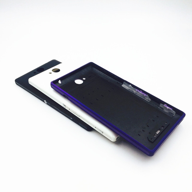 wholesale dealer e56a3 90fd0 Aliexpress.com : Buy Vannego Battery Cover Replacement Parts For Sony  Xperia C C2304 S39 C2305 S39H S39C Rear Battery Door Back Cover Housing  from ...