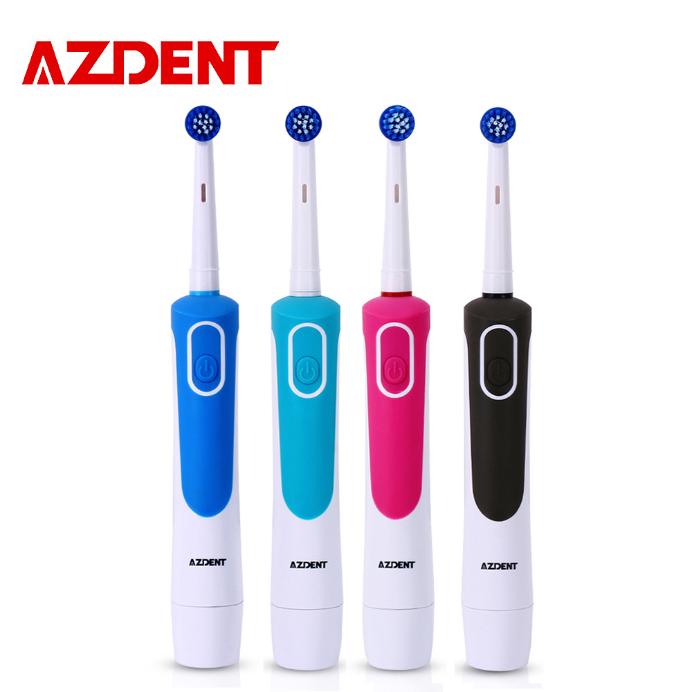 AZDENT New AZ-2 Pro Electric Toothbrush  for Adults Deep Clean Power Battery Electric Tooth Brush 4 Replaceable Tooth Brush Head 2pcs philips sonicare replacement e series electric toothbrush head with cap