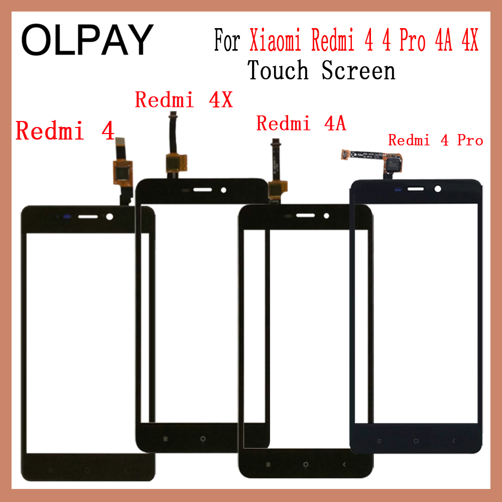 OLPAY 5.0'' 100% New Original Touch Screen For Xiaomi Redmi 4 4 Pro 4A 4X Glass Front Glass Digitizer Panel Lens Sensor