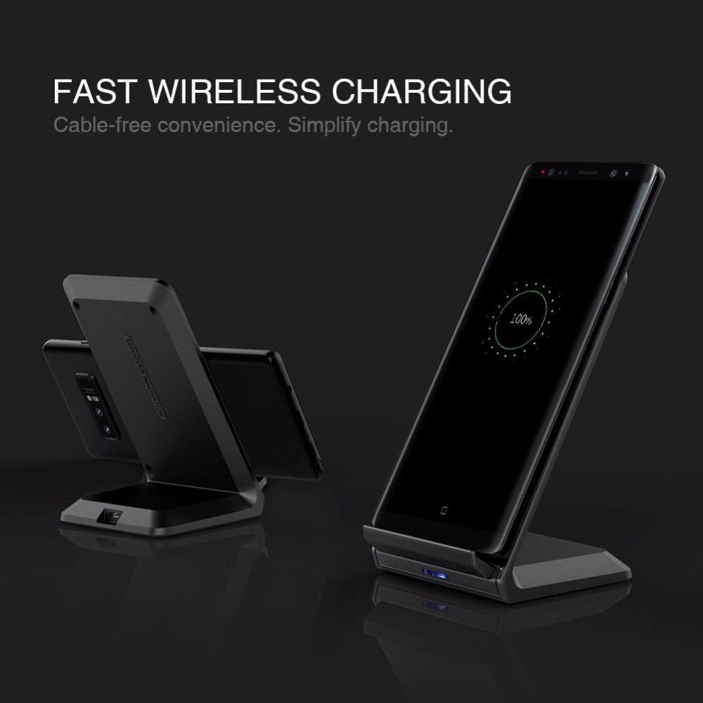 10 W Veloce Qi Wireless Charger stazione holder NILLKIN per iPhone X/8/8 Plus per Samsung S8/S8 Più qi caricatore senza fili portatile