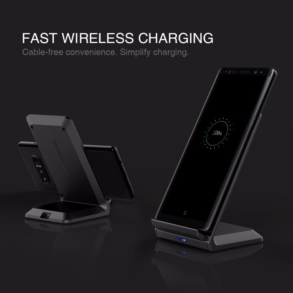 10W Fast Qi Wireless Charger station holder NILLKIN for iPhone X/8/8 Plus for Samsung S8/S8 Plus qi wireless charger portable