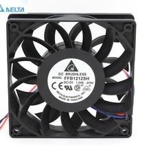 Для delta FFB1212SH 12025 12 см 120 мм DC 12V 1.24A 3-контактный инвертор сервер случае Осевой кулер промышленные вентиляторы